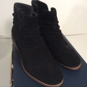NEW Cole Haan Size 6.5 B Alayna Black Suede Bootie
